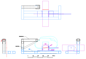 Image showing the Outline Design For The Makita 2107F Bandsaw Frame