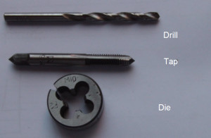 Image illustrating a Metric Drill Tap Die Set