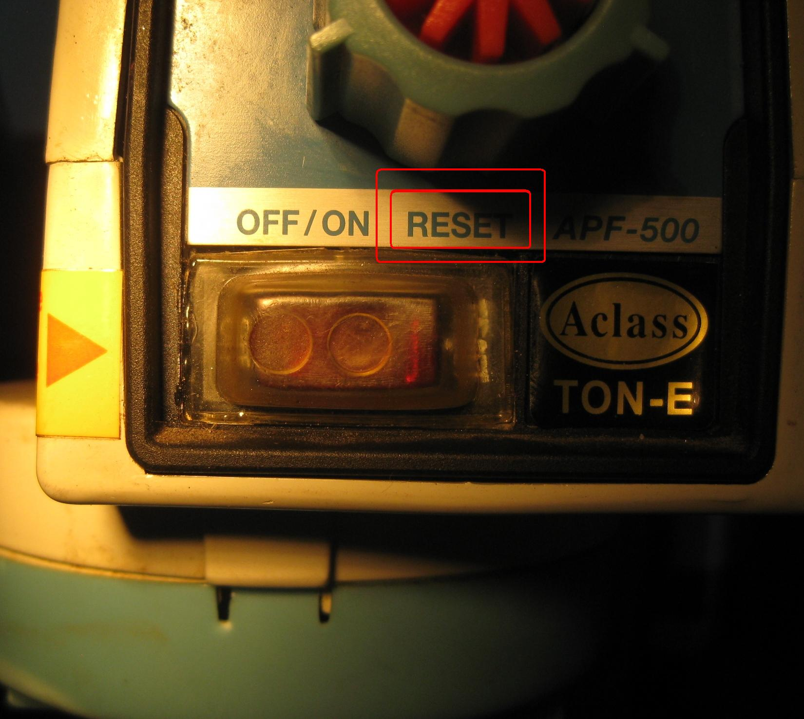 Photo showing ARGO Mill Fault Power Feed Reset
