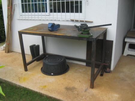 My Homemade Steel Workshop Bench