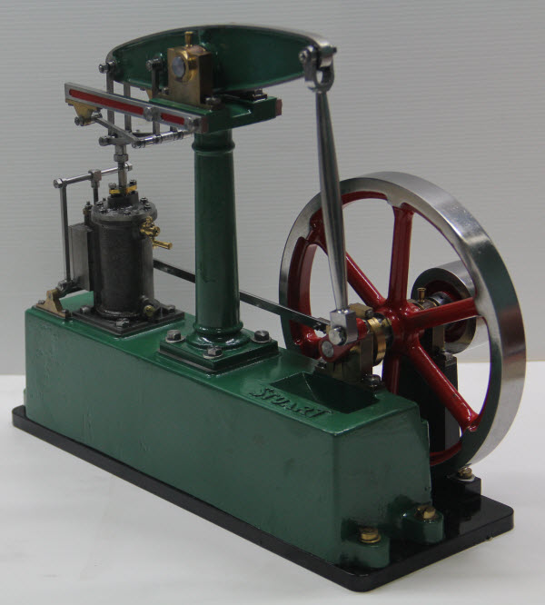 Photo Of Stuart Turner Beam Engine Built In Thailand Painted And Operational Three Quarters View