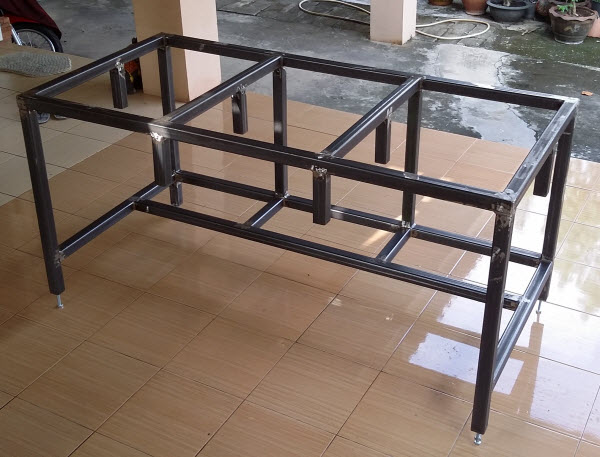 Steel Frame Work : Free diy homemade metal workbench plans