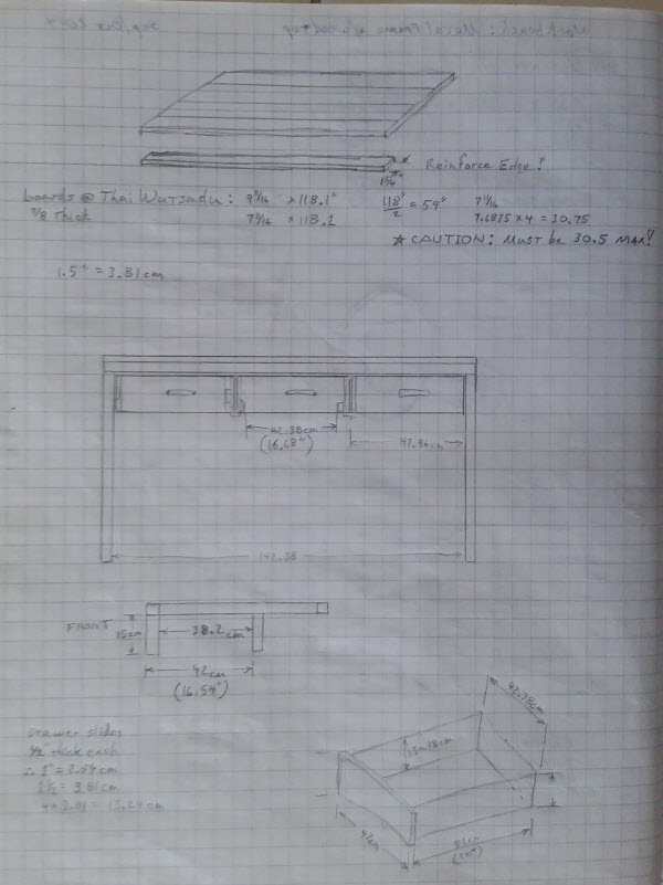 Image showing Homemade Metal Work Bench Sketch 2