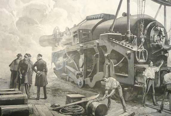 Photo Sir William Armstrong Big Gun