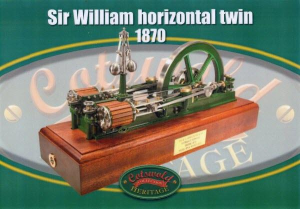 Image showing Sir William Armstrong Horizontal Twin Steam Engine 1870