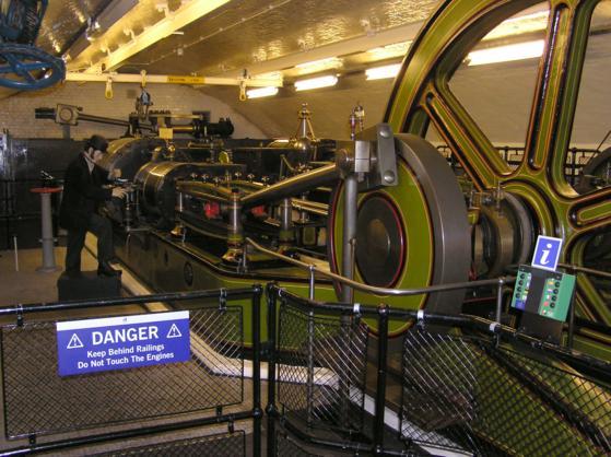 Image showing Twin Cylinder Hydraulic Pumping Engine Tower Bridge London