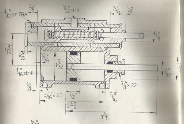 Scan A Close Up Of The LBSC Doris Piston Valve Cylinder Drawing