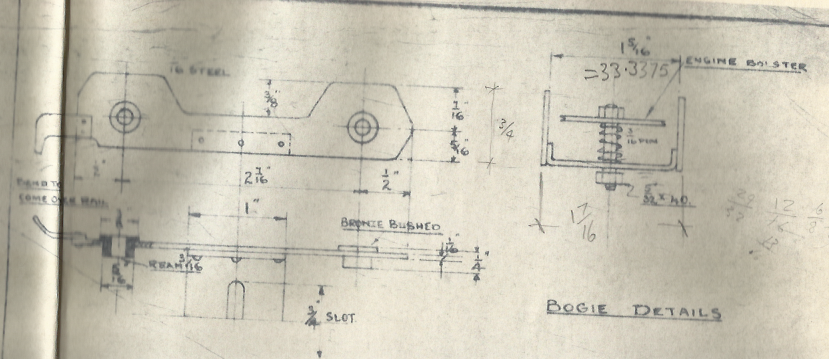 """Extract From LBSC's Drawing For His Gauge 1 """"Dot"""" Image"""