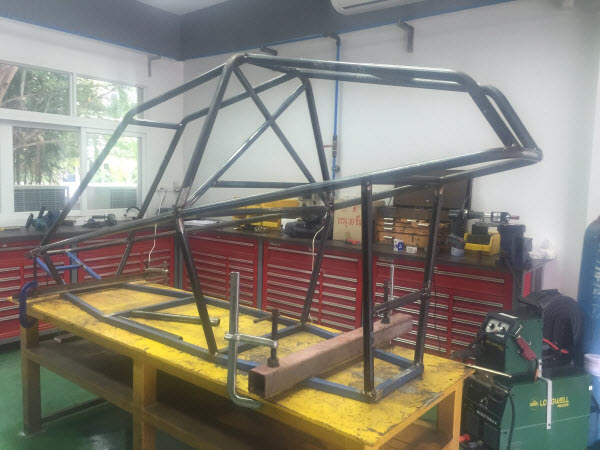 Image showing Day 2 of the Mini Buggy Chassis build.