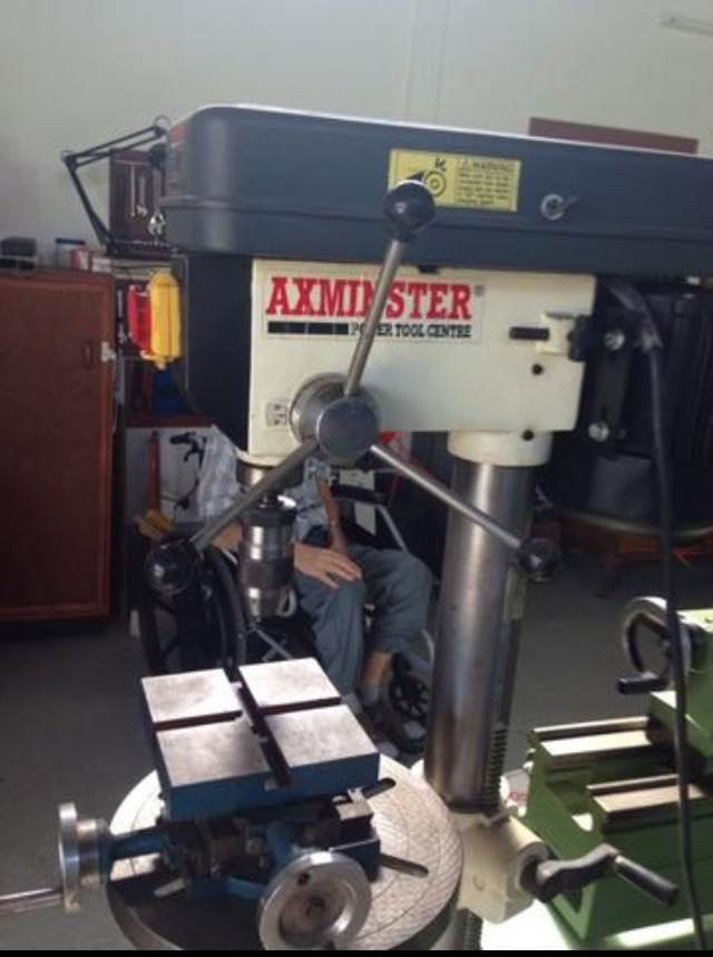 Image of Axminster Floor Standing Drilling Machine With Compound Table